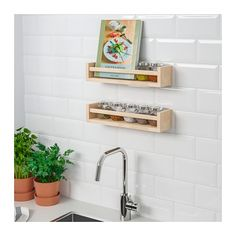 BEKVÄM Spice rack  - IKEA. Let's buy a bunch of these, paint them pretty colors, and stick them on the side of our cabinets for better storage!