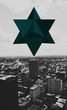 Merkabah - Star Tetrahedron Descent Art Print  http://society6.com/ubikdesigns/Star-Tetrahedron-Descent_Print