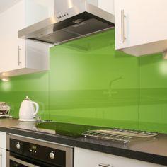 Lime Green - Colour Toughened Glass Splashback 60cm x 40cm