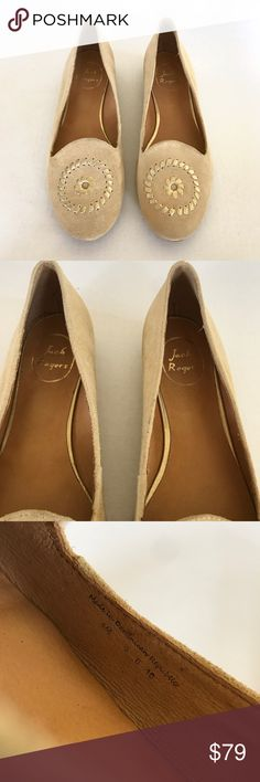 Jack Rogers Rebecca Suede Beige Smoking Slippers NWOB New without box  Jack Rogers Rebecca Suede Beige Smoking Slippers Flats Bottoms may show very minor wear due to store try-ons Size 9  Check out my closet for bundles! Jack Rogers Shoes Flats & Loafers