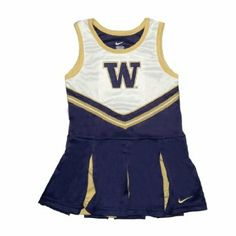 NCAA Washington Huskies Children / Girls Athletic Comfortable Fit Sleeveless Cheerleader Dress / Tank Dress with Embroidered Logo - Purple & White (Size: 4) NCAA. $24.99
