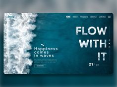 Blue Sea Waves Flow With It by Mohamad Chalak on Dribbble Website Design Inspiration, Website Design Layout, Web Layout, Graphic Design Inspiration, Layout Design, Travel Website Design, Layout Inspiration, Interaktives Design, Crea Design
