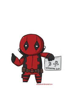 #Deadpool #Fan #Art. (MCH-001 - Deadpool Mini) By:DarkPainArtt. ÅWESOMENESS!!!™ ÅÅÅ+