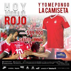 Hoy juega el rojo y yo me pongo la camiseta!!! #rojo #america #americano #camiseta #mechita #sale #oferta #cali #futbol