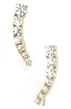 kate spade new york 'dainty sparklers' ear crawlers | Nordstrom