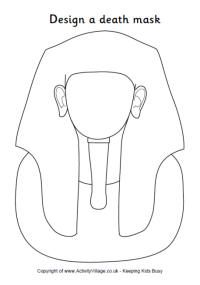 Egyptian coloring pages: Design a death mask
