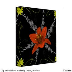 Lily and Gladiola binder