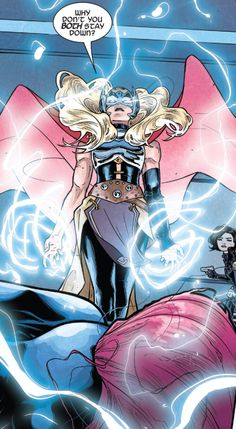 """Comics and nothin' but — Mighty Thor - """"The Battle of Roxxon Island"""". Marvel Girls, Marvel Funny, Marvel Dc Comics, Marvel Heroes, Thor Cosplay, Female Thor, The Mighty Thor, Marvel Wallpaper, Vintage Comics"""