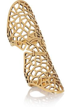The Trend Edit S/S 2012 UP TOWN GYPSY LOOK No 2/25   ZADIG & VOLTAIRE  By Gaia Repossi 18-karat gold-plated ring