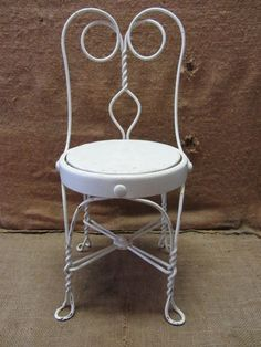 Antique Wrought Iron Doll Child Table Amp 2 Chairs Ice Cream