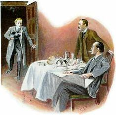 Sherlock Holmes The Norwood Builder a wild-eyed and frantic young man, pale, dishevelled, and palpitating, burst into the room Original Sherlock Holmes, Peter Sallis, Jeremy Brett, Dr Watson, Greatest Mysteries, Arthur Conan Doyle, Practical Jokes, Mystery Novels, Classic Literature