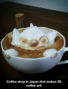 Stitch coffee in a cafe at Japan!! Photo worthy!!