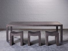 Sally Mackeret Outdoor Cast #concrete #furniture #table