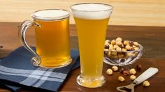 """Glass Shape Speeds Drinking on -8 minutes to down a beer versus 13 in a more """"stein"""" shaped glass. Good thing to know to try to prevent binge drinking. Social drinkers tend to drink first to the half  of the height, which is a lot more beer if the glass is curved. Putting a line at 1/2 full might help pre-empt this undesirable glass shape effect. http://the-scientist.com"""