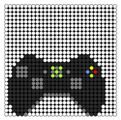 Crochet Xbox Controller : Xbox Controller Perler Bead Pattern Bead Sprites Misc Fuse Bead ...