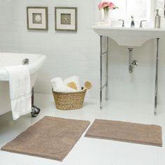 Chenille Plush 2 Piece Bath Mat Set