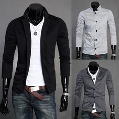 201230039 2012 Fashion Style Men's Mandarin Collar Knitwear Suits 4 Sizes 3 Colors-in Hoodies  Sweatshirts from Apparel  Accessories on Aliexpress.com $12.99