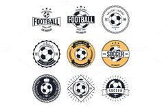 Soccer Football Typography Badge Graphics Soccer Football Typography Badge Design Element vector by idimair Badge Design, Icon Design, Logo Design, Graphic Design, Business Illustration, Pencil Illustration, Soccer Logo, Iphone Icon, Best Icons