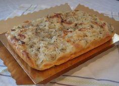 Focaccia de cebolla y orégano para www. Great Recipes, Favorite Recipes, Healthy Recipes, Quiches, Focaccia Pizza, Pan Bread, Good Pizza, Cinnamon Bread, Four