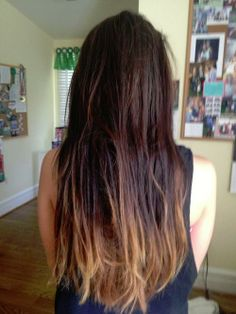 Dark ombré. i think this matches more of my hair color; although, the bottom still seems too blondey