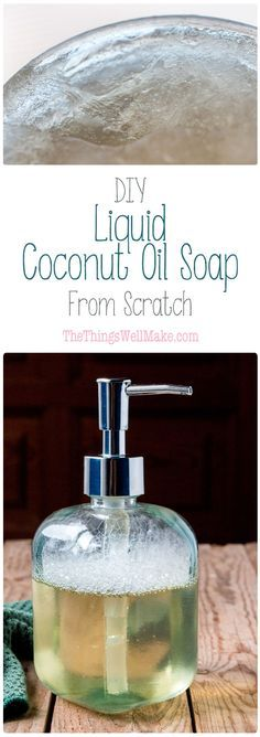 Making your own homemade liquid coconut oil soap is simple, thrifty, and very rewarding. Coconut oil soap provides lots of lather and cleaning power for all purpose cleaning.