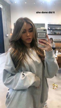 Brown Hair Balayage, Hair Highlights, Hair Inspo, Hair Inspiration, Madison Beer Hair, Madison Beer Makeup, Aesthetic Hair, Dream Hair, Hair Looks