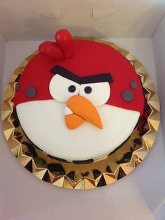 Angry Birds Birthday Cake.  I really like this one.  Clean lines