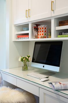 Built in office desk and storage design | Studio-Surface