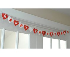 Valentine's Garland w. bead letters