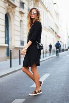 A Little Black Dress and Sneakers