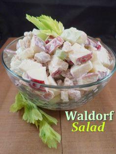 Waldorf Salad - a creamy, crunchy salad that's healthy and easy to make! Winner - Winner! #recipe #salad #applerecipes