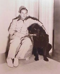 Bing Crosby And His Newfoundland.