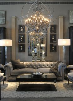 Black and Silver Living Room - Interior Design Ideas