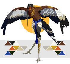 Secretary Bird Harpy (CLOSED) by Mrakobulka.deviantart.com on @DeviantArt
