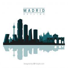 Skyline Madrid, Skyline Design, Skyline Silhouette, Smart City, Long Time Ago, Willis Tower, Stock Footage, Wallpaper, Travel