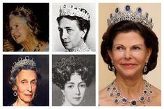 Photos (clockwise from top left): Princess Sibylla of Sweden; Queen Victoria of Sweden; Queen Silvia of Sweden; Queen Josefina of Sweden; Queen Louise of Sweden