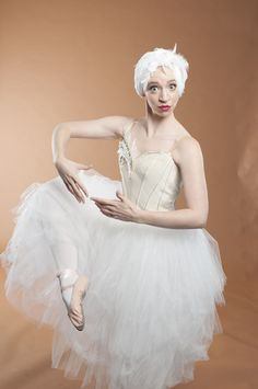 Essie Carmichael (Lindsay Tornquist) fancies herself as quite the ballerina in You Can't Take It With You at Asolo Rep. Photo Barbara Banks Photography inc.
