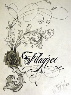 Filigree by ~StevenWorthey on deviantART  >>>This is a bit ornate for my taste, but a bit of what I'm thinking for the stems - basically variation and tapering in width.