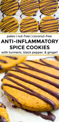 Paleo Anti-Inflammatory Spice Cookies (nut-free, coconut-free, refined sugar-free) - All The Nourishing Things - Paleo Dessert, Dessert Recipes, Desserts, Cobbler, Paleo Recipes, Real Food Recipes, Fudge, Cookies Healthy, Coconut Cookies