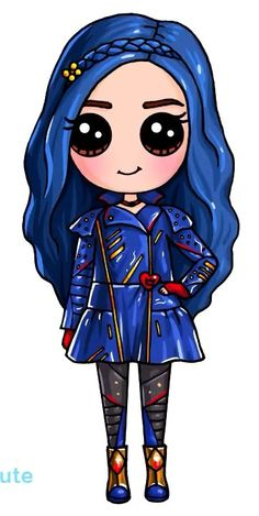 Descendants 2 – Evie is my favorite character in the whole entire movie!… Descendants 2 – Evie is my favorite character in the whole entire movie! Kawaii Girl Drawings, Cute Disney Drawings, Cute Easy Drawings, Cute Girl Drawing, Cute Animal Drawings, Cartoon Drawings, Cute People Drawings, Kawaii Disney, Anime Kawaii