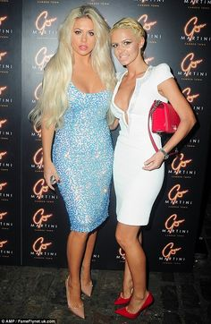 Close call: Her friend risked over-exposing herself as she slipped her lithe frame into a white bodycon dress which featured a cleavage cut-out Bianca Gascoigne, Evening Attire, Launch Party, Martini, Fashion Inspiration, Curvy, Product Launch, Sparkle, Bodycon Dress