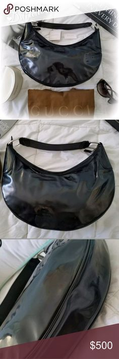 f4b986bc95e6 AUTHENTIC GUCCI Patent Leather Hobo Shoulder Bag This darling is absolutely  authentic and purchased directly from