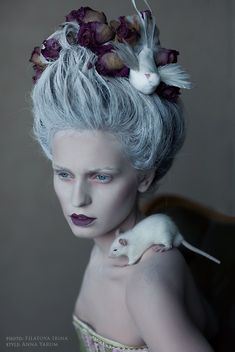 Filatova Irina and Yarum Ann,avant garde hair and make-up.