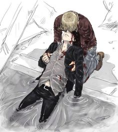 Sherlock & John fanart<--This looks like what would have happened if the bomb went off at the pool scene
