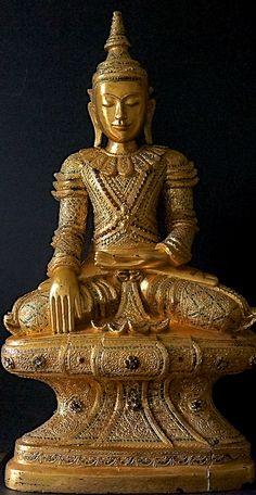 **Wooden Burmese Buddha