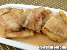 Thai Food Blogs: Pictures, Recipes and Menu Decoders - Enjoy Thai Food...Grilled Sweet Bananas in Syrup!