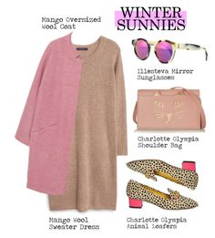 """""""New Winter Sunnies"""" by alaria ❤ liked on Polyvore featuring Violeta by Mango, Charlotte Olympia, Illesteva, MANGO, sunnies and wintersunnies"""