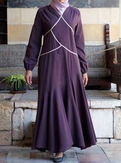 Bias Trim Empire Style Dress