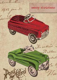 Paulo Viveiros: Vintage Pedal Car Christmas Designs