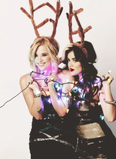 Ashley & Lucy christmas photoshoot. #pll